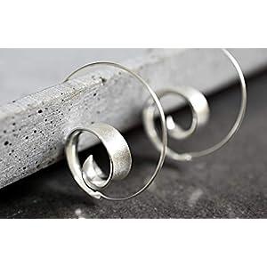 925 Sterling Silber Spiral Ohrringe BRUNEI Boheme-Stil Geschenkverpackung Schmuckschachtel