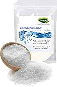Thanjai Natural Epsom Salt for Muscle Relief, Relieves Aches & Pains, 1Kg Pure 100% Natural Natural Method Made.