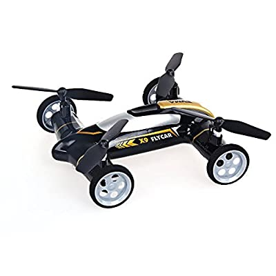 Rc Car,DeeXop X9 Flying Cars Quadcopter Remote Control Car and RC Quadcopter Remote Control Drone Flying Vehicles Black