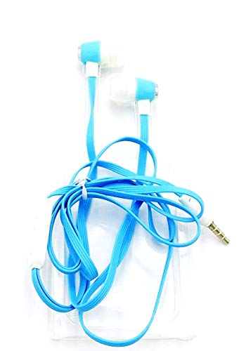 TiiPro 3.5mm Jack Wired Earphone with Mic (Blue)