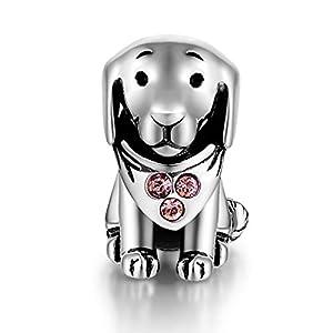 GW 925 Sterling Silber Charms Hund passt für Pandora Armband Armkette Halskette für Damen