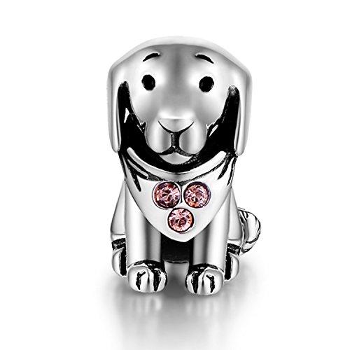 925 Sterling Silber Charm Hund passt für Pandora Armband Geschenk für Fille/Hundeliebhaber