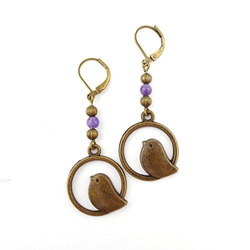 amethyst-bird-earrings-long-drop-antique-bronze-includes-gift-box