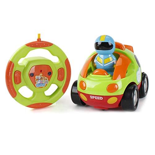 DoMoment Niedlichen Cartoon RC Rennwagen Funksteuerung Spielzeugauto Fahrzeug mit Sound Musik Blinklicht Elektrische Spielzeug für Kinder Kleinkinder