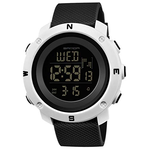 HHyyq Herren Sport Military Digital Big Datum Chronograph Analog Resin Armbanduhr Herren Sportuhr Dual Display Analog Digital Elektronische Uhr Paar Beobachten(K)