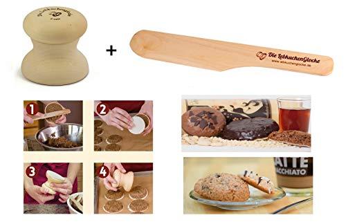 Neustanlo® Lebkuchenglocke Spar-Set mit Spatel Lebkuchenformer Lebkuchenform Lebkuchen Form (5 cm inkl. Spatel)