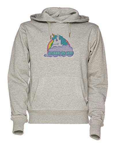 Jergley Always Be You Unicorn Unisex Grau Sweatshirt Kapuzenpullover Herren Damen Größe M   Hoodie for Men and Women Size M