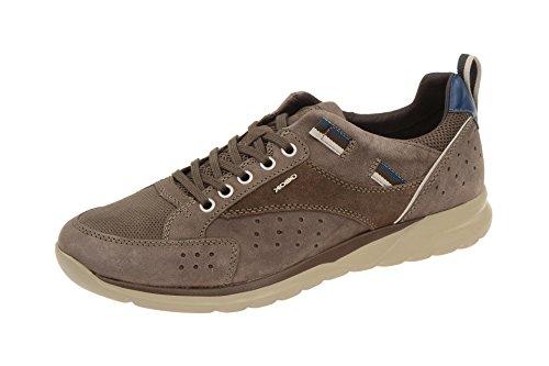 Geox Herrenschuhe U DAMIAN U620HD Herren Sneaker, Schnürer, Halbschuhe Leder braun, EU 43
