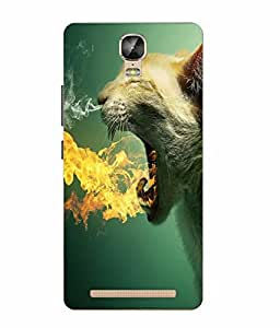 Make My Print Panther Printed Green Soft Silicon Back Cover For Gionee Marathon M5 Plus