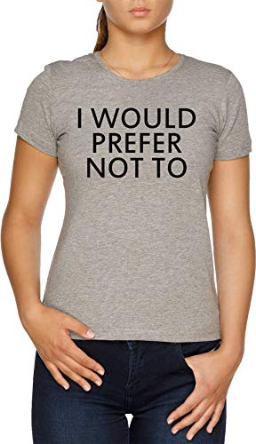 Vendax I Would Prefer Not To T-Shirt Donna Grigio