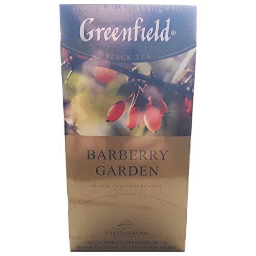 Greenfield Barberry Garden 25 Beutel Schwarztee mit Berberitze Barbaris Tee (Gardens Greenfield)