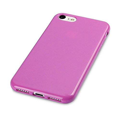 Coque iPhone 8 / iPhone 7, Terrapin Étui Coque en Gel TPU pour iPhone 8 Housse - Solide Jaune Mat Solide Rose