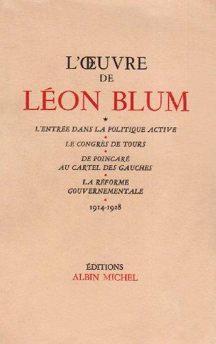 L'Oeuvre de Léon Blum (1914-1928)