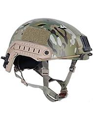 Worldshopping4U Bj tipo base Jump rápido casco abs ajustable para Táctica Militar Airsoft, Paintball, color: MultiCam MC, tamaño: grande hasta XL