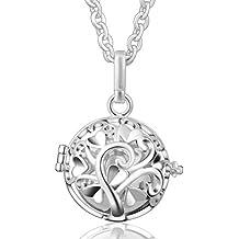 Eudora Harmony Ball - Colgante con cadena de plata de ley con diseño de timbre, regalo para el día de la madre