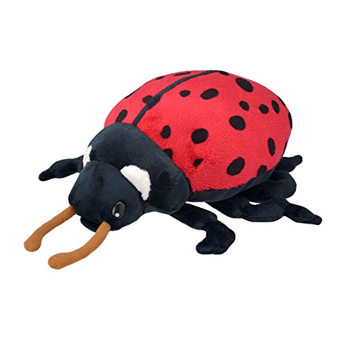 Wild Planet All About Nature-25 cm Coccinelle à la Main, Peluche réaliste, Multicolore (K8198