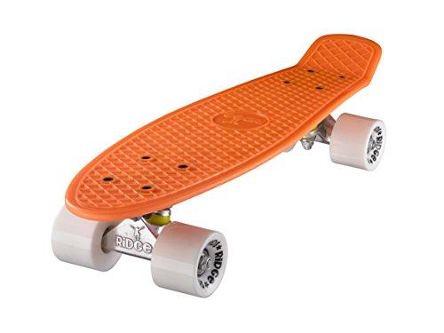 Ridge 22' Mini Cruiser Board Retro Skateboard, komplett ausgerüstet, in orange, völlig in der EU entworfen und hergestellt