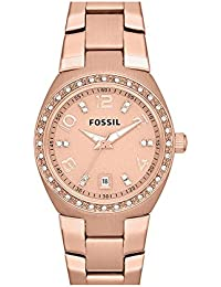 Fossil Analog Rose gold Dial Women's Watch - AM4508
