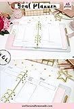 22 planner - 12 pagine, inserti A5 per pianificazione obiettivi, piano d'azione per obiettivi, ricarica planner per la produttività, calendario obiettivo, pagine A5 per Kikki K grande, Filofax A5