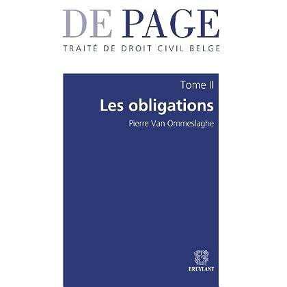 Traité de droit civil belge – Tome II : Les obligations. Volumes 1 à 3 (De Page)