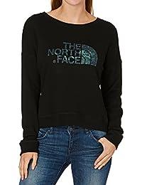North Face W L/S Terry Crew - Sudadera para mujer, color negro, talla XL