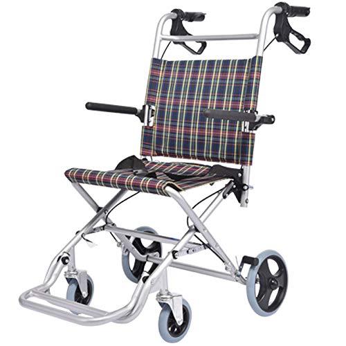 SSLL Reiserollstuhl Leicht Faltbar Klapp Rollstuhl Leicht Aluminium Protable Liegestuhl Für Personen Mit Körperlichen Beeinträchtigungen Und ältere Menschen Belastbarkeit 100 Kg,C