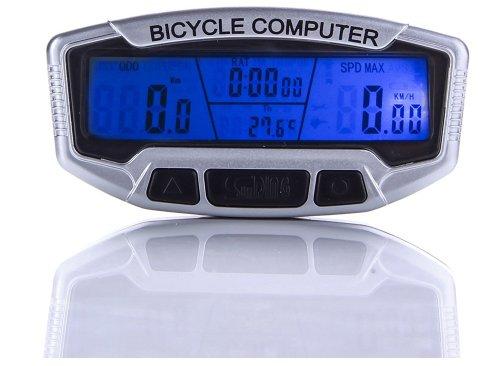 Bicycle LCD Cycle Computer Speedometer Odometer Bicycle Meter Backlit Display