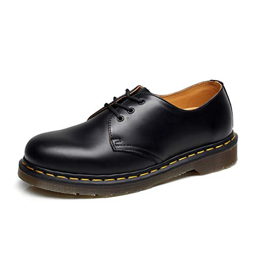Orktree Unisex-Erwachsene Chelsea Boots Damen Stiefel Wasserdicht Kurz Stiefeletten Schuhe Herren Combat Worker Boots,Schwarz Low-top,40 EU