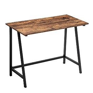 VASAGLE Schreibtisch, Computertisch, Homeoffice, Büro, Arbeitszimmer, Wohnzimmer, stabil, platzsparend, einfacher Aufbau…