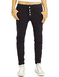 Bestyledberlin Damen Boyfriend-Jeans, Hüftige Slim Fit Jeans, Weiter Schritt j83i