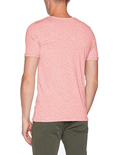 JACK & JONES PREMIUM Herren T-Shirt Jprrandy Tee SS Crew Neck Sts Rosa (Paprika Fit:Slim Fit Melange)