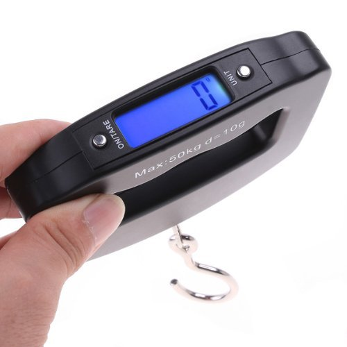 ZZ ZONEX Black Durable 50Kg Luggage Scale (With Extra Battery)