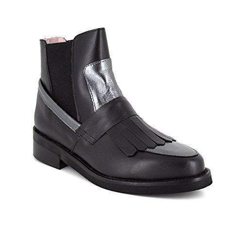 BUTTERFLY Boots femme cuir 13302 noir-gris Noir