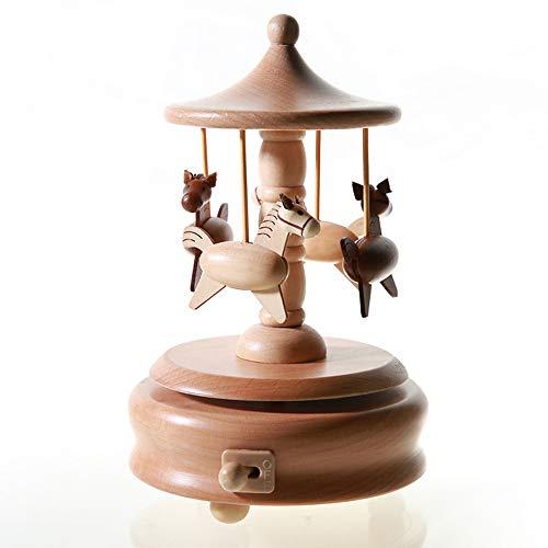 Chonor Innovative Szene aus Holz Spieluhr, Premier Spieluhr Handkurbel Reine Hand-klassischen Hand-hölzerne Music Box Holz Handwerk Dekorationen Idee für Geburtstag Weihnachten