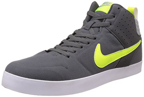 Nike Men's Liteforce Iii Mid Dark Grey, Volt and WhiteSneakers -7 UK/India (41 EU)(8 US)