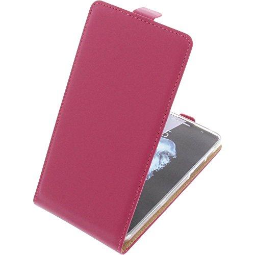 foto-kontor Tasche für Alcatel Flash Plus 2 Smartphone Flipstyle Schutz Hülle pink