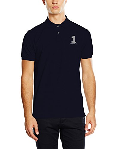 Hackett Clothing New Classic, Polo Uomo, Multicolore (Navy/grey), L(UK)