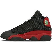 outlet store af451 32f87 Nike Zapatillas Hombre Air Jordan 13 Retro GS EN Tejido y Piel EN Rojo y  Negro