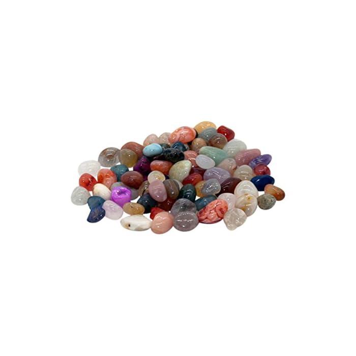 GICO Echte Edelsteine, 1 Beutel 75 Stück für alle Steinchenspiele, Hus, Bao oder als Deko