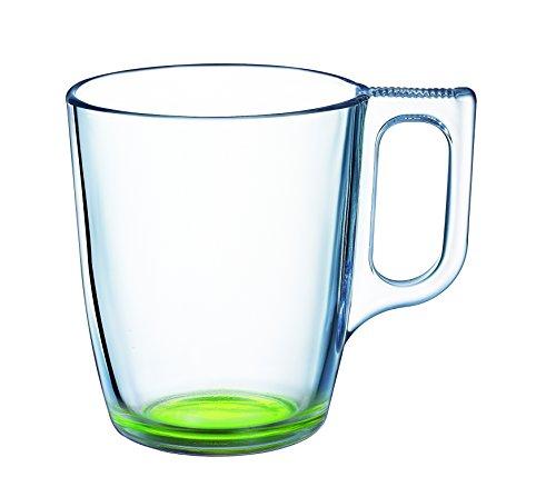 Luminarc 9213709 Lot de 6 Tasses Crazy Verre Vert 25 cl