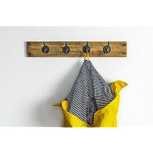 Garderobe/Handtuchhalter Obstkiste Holz Altholz Vintage Upcycling Handmade mit 4 Haken in bronze oder weiß, Landhausstil…