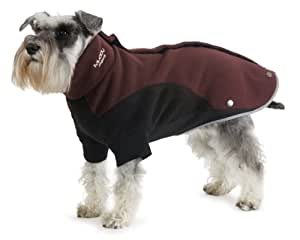 Muddy Paws Thermal Fleece Burgundy/black Small