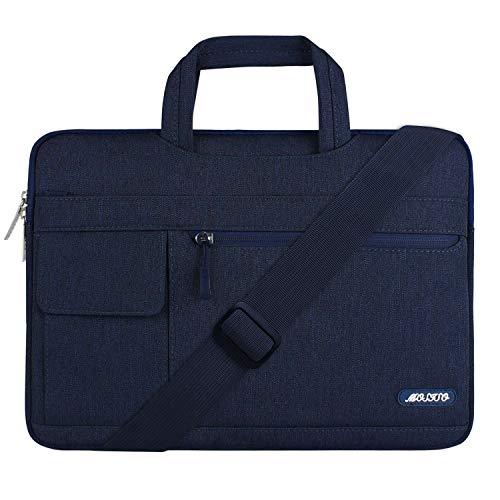 MOSISO Notebooktasche Kompatibel 13-13,3 Zoll MacBook Pro, MacBook Air, Notebook Computer, Polyester Flapover Art Laptoptasche Sleeve Hülle Umhängetasche mit Griff & Schultergurt, Navy Blau