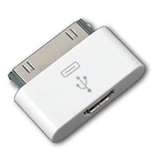 Blanc Adaptateur connecteur Station Dock 30 Broches vers Micro USB pour iPhone 4/4S iPod Touch 4