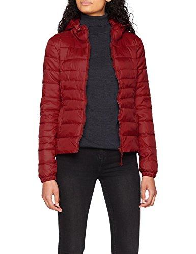 ONLY NOS Damen Jacke Onltahoe Hood Jacket Otw Noos, Rot (Cordovan), 36(Herstellergröße: S)