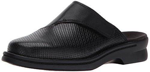 Clarks Damen Clogs & Pantoletten Schwarz Black Leather (Clarks Clogs Schwarz)