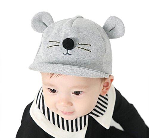 Warm Woll Haube Baby Hüte Wintermütze Baumwolle Schirmmütze Haube Mütze Hut Warme Schlupfmütze Mütze Beanie Ballonmütze Schlupfmütze Baseballmütze Kapuze Mützen LMMVP (Grau) (Kapuzen-mütze Baumwolle)