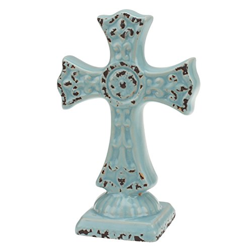 stonebriar getragen Pale Ocean Keramik Kreuz Ständer, klein (Kleine Keramik-kreuz)