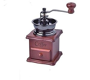 Zulux Vintage Manual Coffee Grinder Ceramic Conical Burr Portable Hand Crank Coffeemaker