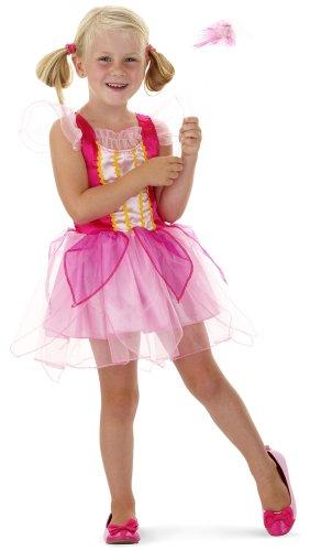 Prinzessin Kleid inklusive Zauberstab für Mädchen mit 3-6 -
